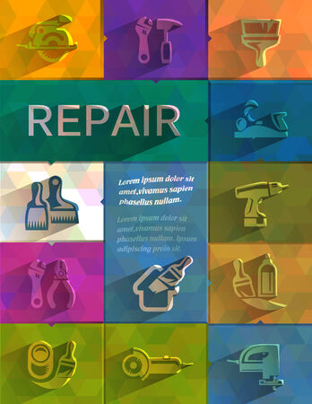 rework: Repair icons  Vector format Illustration