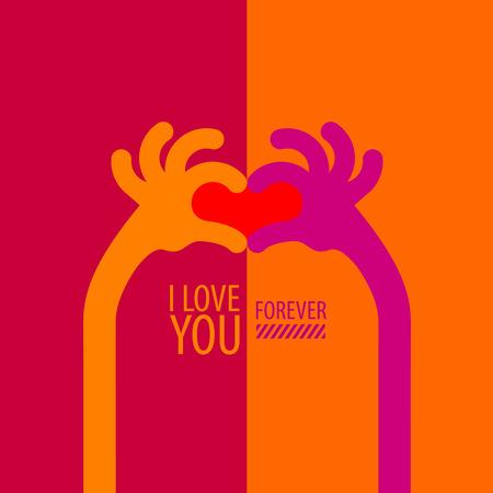 Ich liebe dich Vektor-Format