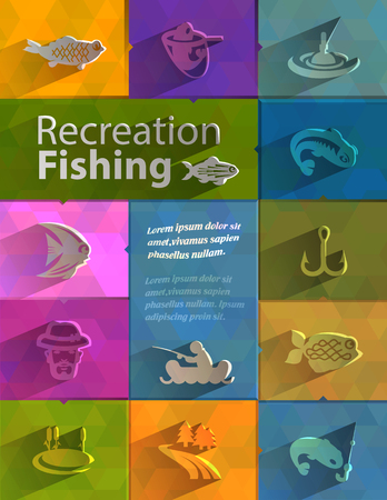 Recreation fishing  Vector format Vector