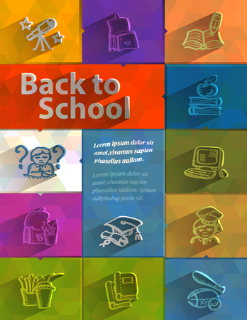Back to school  Vector format Vector