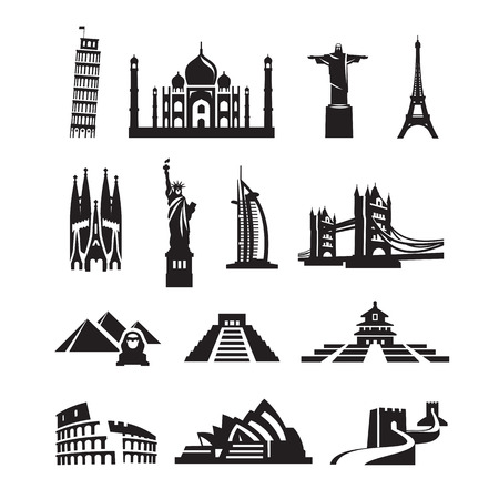 World sights icons  Vector format