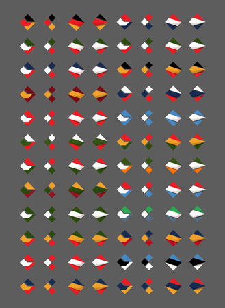 top of the world: Flags  Vector format