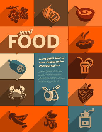 Good food  Vector format Vector