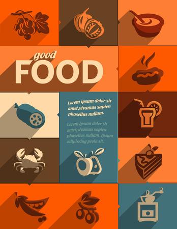 crab meat: Good food  Vector format