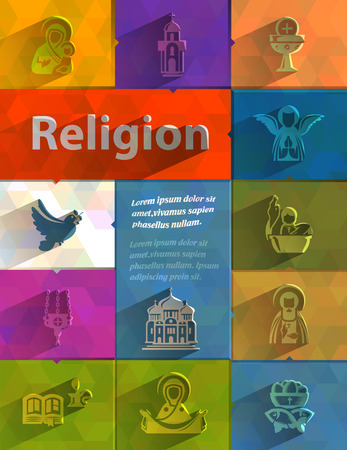 sanctification: Religion  Vector format Illustration