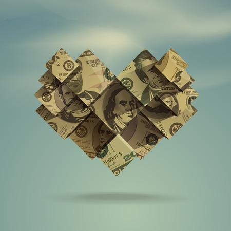 inheritance: Heart  Dollar  Vector Format