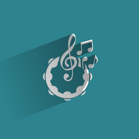 pandero: Formato vectorial Music Vectores