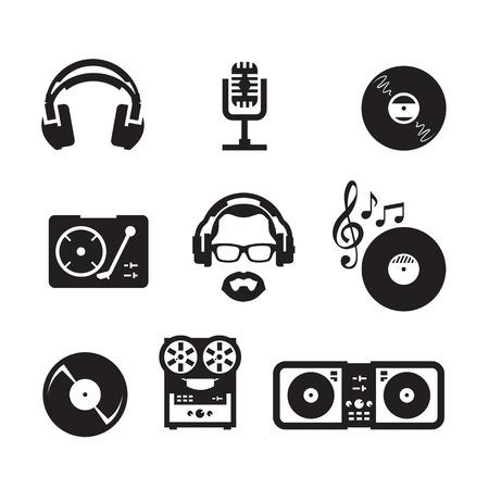 auriculares dj: Formato vectorial Music Vectores