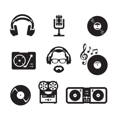 headphones icon: Music  Vector format