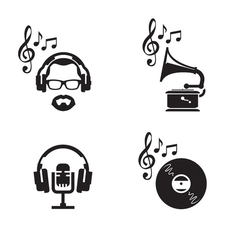 gramophone: Music icons  Vector format Illustration