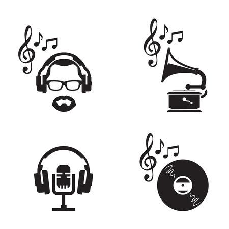 Muziek iconen Vector-formaat