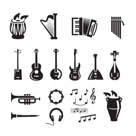 instruments de musique: Le format de musique de vecteur Illustration