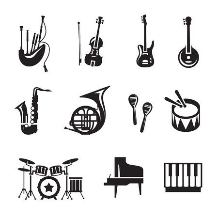 Disposizione di musica Vector Vettoriali
