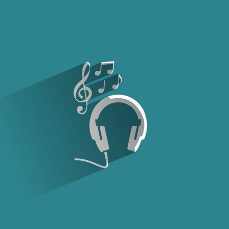 head phones: Music  Vector format