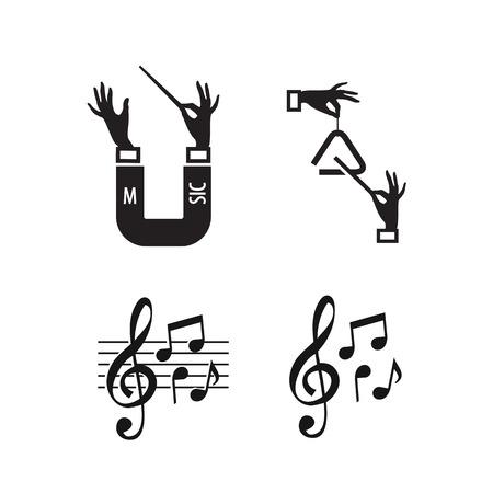 quarters: Music  Vector format
