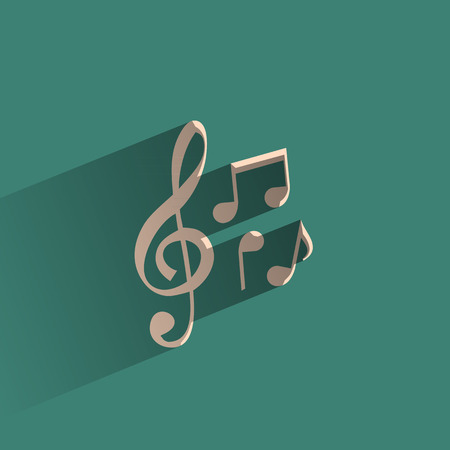 key signature: Music  Vector format