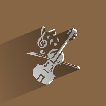 violines: Formato vectorial Music Vectores