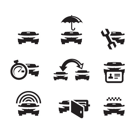 foreign bodies: Car  Vector format Illustration