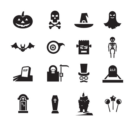 halloween icons Illustration