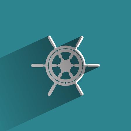 captain boat: Marine helm  Vector format
