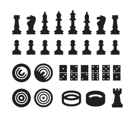 chess pieces: Games  Vector format