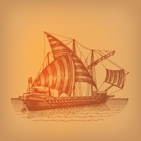 traced: Ship  Vector format