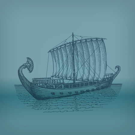 ancient civilization: Ship  Vector format