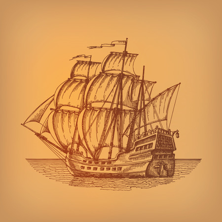 Formato vectorial de la nave Foto de archivo - 26159233