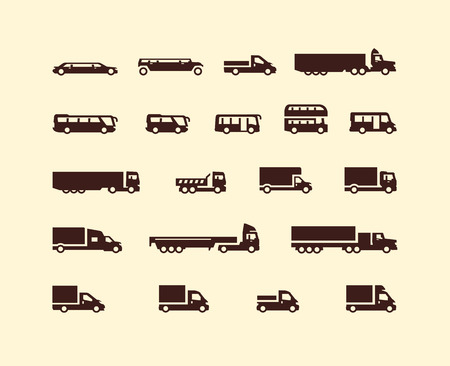 Transportation icons  Vector format Vector