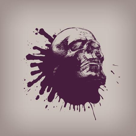 drug addict: Human skull  Vector format