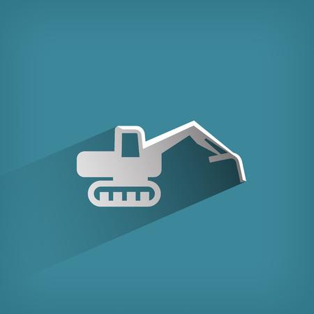 backhoe: Excavator  Vector format Illustration