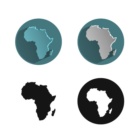 africa continent: Africa icon Illustration