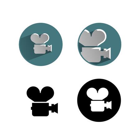 cinematografico: icono de pel�cula Vectores