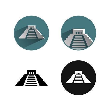 tempels: mexico pictogram Stock Illustratie