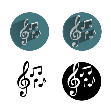 treble clef: music icon Illustration
