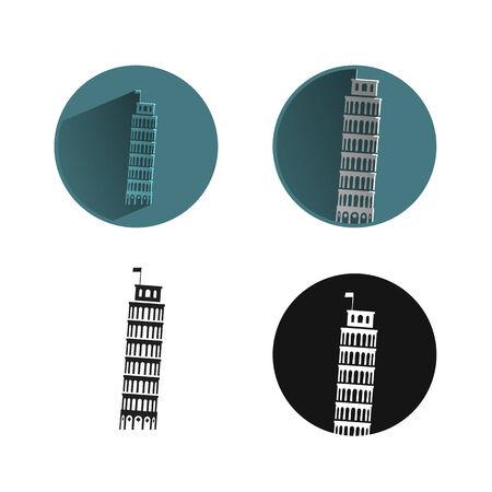 leaning tower of pisa: Leaning Tower of Pisa Illustration