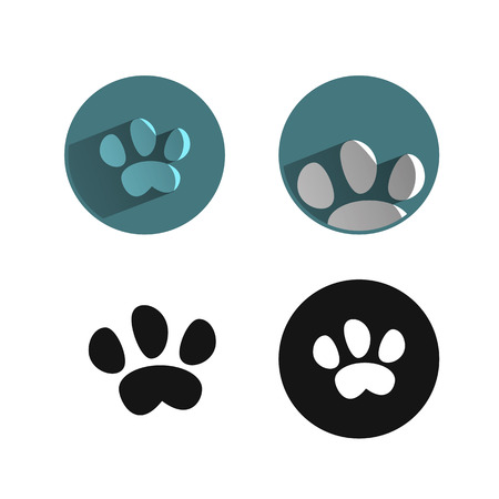 cat paw: paw icon Illustration