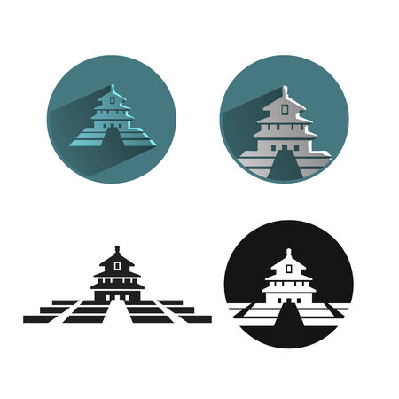 Thailand temple icon Vector
