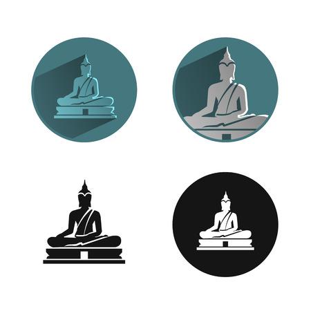 buddha statue: Buddha icon