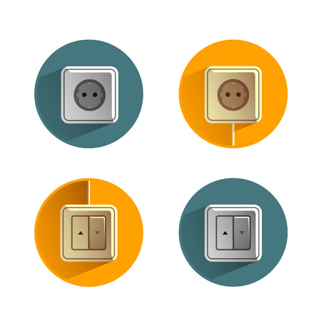 electric grid: Socket icon Illustration