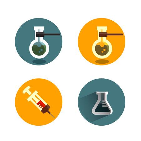 syringe inoculation: Laboratory icon