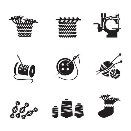 gomitoli di lana: Formato Icons Vector