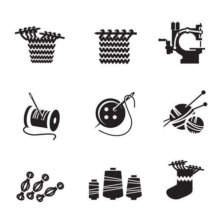 handicrafts: Icons  Vector format