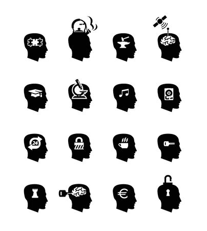 Head icons  Vector