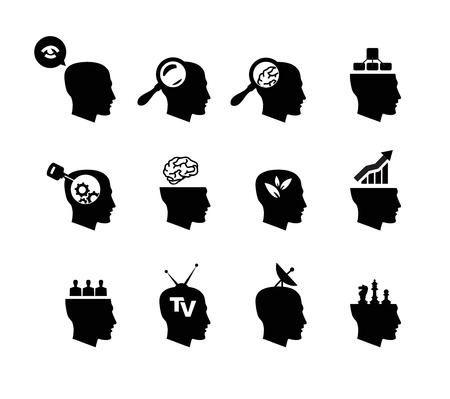 insightful: Head icons Illustration