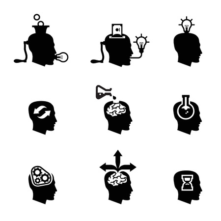 resourceful: Head icons Illustration