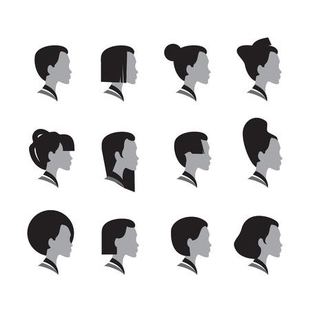 cartoon face: Head  Vector format Illustration