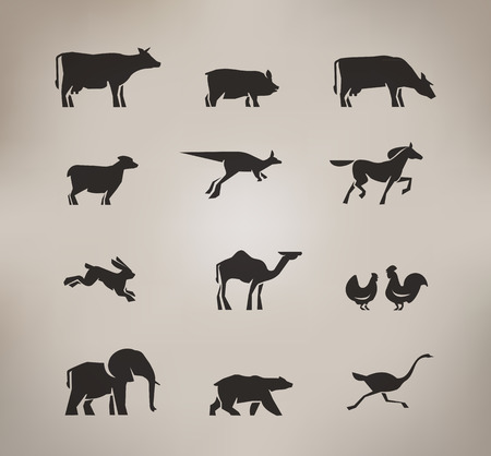 Animals  Vector format Vector