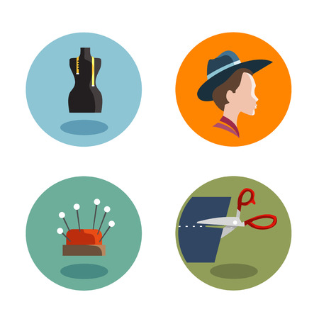 Tailor Icons  Vector format Vector