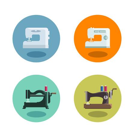 stitching machine: Sewing machine  Vector format Illustration